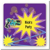Laser Tag - Square Personalized Birthday Party Sticker Labels
