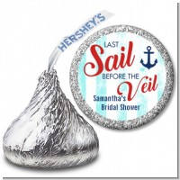 Last Sail Before The Veil - Hershey Kiss Bridal Shower Sticker Labels