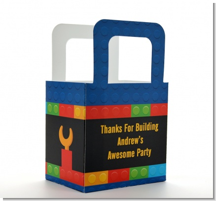 Building Blocks - Personalized Birthday Party Favor Boxes