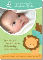 Lion | Leo Horoscope - Birth Announcement Photo Card