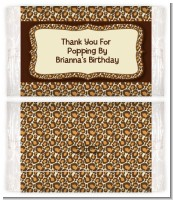 Leopard Brown - Personalized Popcorn Wrapper Birthday Party Favors