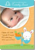 Bunny | Libra Horoscope - Birth Announcement Photo Card