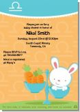 Bunny | Libra Horoscope - Baby Shower Invitations