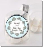 Light Blue & Grey - Personalized Bridal Shower Candy Jar