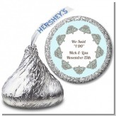 Light Blue & Grey - Hershey Kiss Bridal Shower Sticker Labels