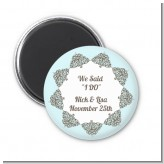 Light Blue & Grey - Personalized Bridal Shower Magnet Favors