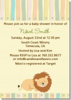 Lion - Baby Shower Invitations