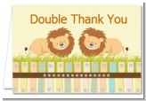 Twin Lions - Baby Shower Thank You Cards