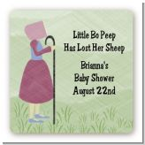 Nursery Rhyme - Little Bo Peep - Square Personalized Baby Shower Sticker Labels
