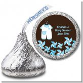 Little Boy Outfit - Hershey Kiss Baby Shower Sticker Labels