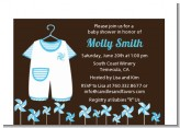 Little Boy Outfit - Baby Shower Petite Invitations