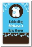 Little Boy Outfit - Custom Large Rectangle Baby Shower Sticker/Labels