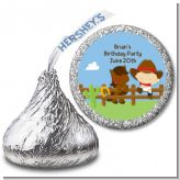 Little Cowboy - Hershey Kiss Baby Shower Sticker Labels