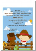 Little Cowboy - Baby Shower Petite Invitations