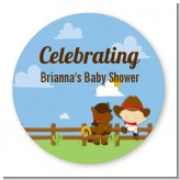 Little Cowboy - Personalized Baby Shower Table Confetti
