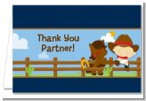 Little Cowboy - Baby Shower Thank You Cards