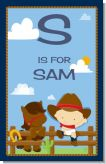 Little Cowboy - Personalized Baby Shower Nursery Wall Art