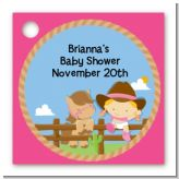 Little Cowgirl - Personalized Baby Shower Card Stock Favor Tags