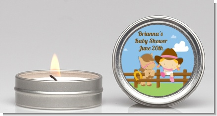 Little Cowgirl - Baby Shower Candle Favors