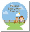 Little Cowgirl - Personalized Baby Shower Centerpiece Stand thumbnail
