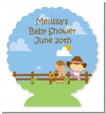 Little Cowgirl - Personalized Baby Shower Centerpiece Stand