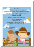 Little Cowgirl - Baby Shower Petite Invitations