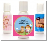 Little Cowgirl - Personalized Baby Shower Lotion Favors