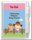 Little Cowgirl - Baby Shower Personalized Notebook Favor