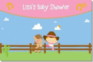 Little Cowgirl - Personalized Baby Shower Placemats