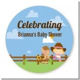 Little Cowgirl - Personalized Baby Shower Table Confetti