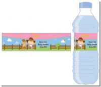Little Cowgirl - Personalized Baby Shower Water Bottle Labels