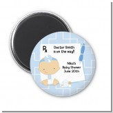 Little Doctor On The Way - Personalized Baby Shower Magnet Favors