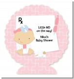 Little Girl Doctor On The Way - Personalized Baby Shower Centerpiece Stand
