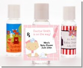 Little Girl Doctor On The Way - Personalized Baby Shower Hand Sanitizers Favors