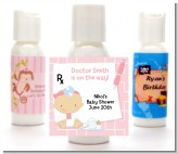 Little Girl Doctor On The Way - Personalized Baby Shower Lotion Favors