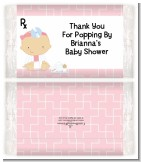 Little Girl Doctor On The Way - Personalized Popcorn Wrapper Baby Shower Favors
