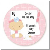 Little Girl Doctor On The Way - Personalized Baby Shower Table Confetti