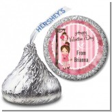 Little Girl - Hershey Kiss Valentines Day Sticker Labels