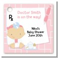 Little Girl Doctor On The Way - Personalized Baby Shower Card Stock Favor Tags thumbnail