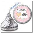 Little Girl Doctor On The Way - Hershey Kiss Baby Shower Sticker Labels thumbnail