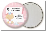 Little Girl Doctor On The Way - Personalized Baby Shower Pocket Mirror Favors