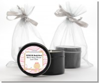 Little Girl Nurse On The Way - Baby Shower Black Candle Tin Favors