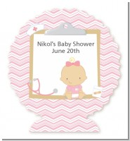 Little Girl Nurse On The Way - Personalized Baby Shower Centerpiece Stand
