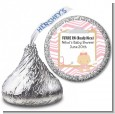 Little Girl Nurse On The Way - Hershey Kiss Baby Shower Sticker Labels thumbnail