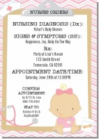 Little Girl Nurse On The Way - Baby Shower Invitations