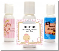 Little Girl Nurse On The Way - Personalized Baby Shower Lotion Favors