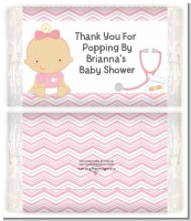 Little Girl Nurse On The Way - Personalized Popcorn Wrapper Baby Shower Favors
