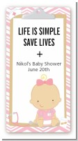 Little Girl Nurse On The Way - Custom Rectangle Baby Shower Sticker/Labels