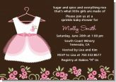 Little Girl Outfit - Baby Shower Invitations