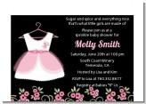 Little Girl Outfit - Baby Shower Petite Invitations